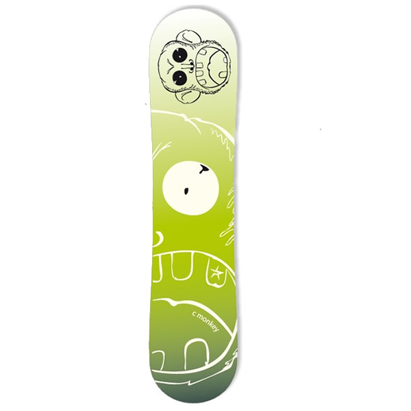 Placa Snowboard Copii Junior Monkey Verde 129cm