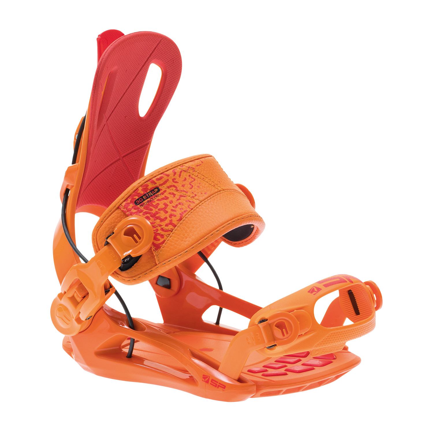 Legaturi Snowboard Rage Fastec FT270 M Orange/Red compatibile Burton Channel / Canal